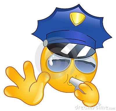 Emoticon policjant