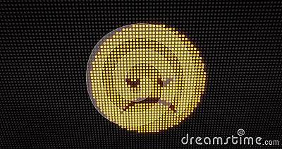 Emoticon smucenie PROWADZĄCY zbiory wideo