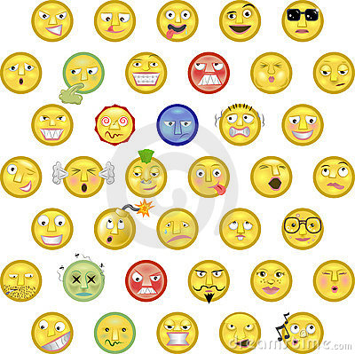 Emoticons Stock Image - Image: 6196811