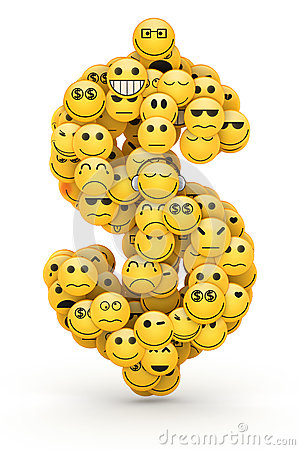 emoticons dollar sign stock photography image 33009792
