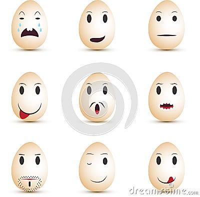 Emoticons eggs