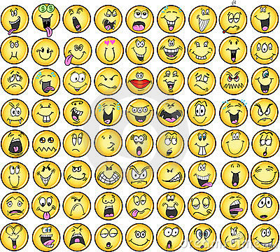 Emoticons emotion Vector Icons