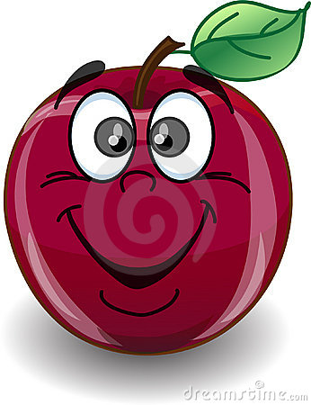 Emotion cartoon apples,vector