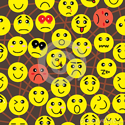 Free Emotion Connection Seamless Pattern_eps Stock Photo - 25529820