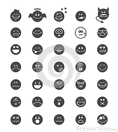 Emotion face icons