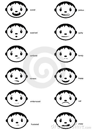 Emotions Chart With Faces. hairstyles emotions faces