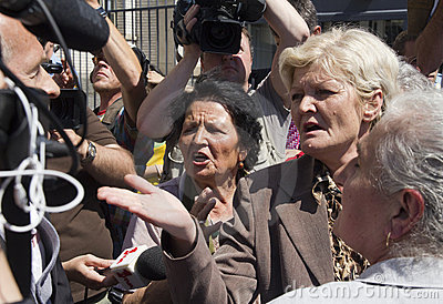 Emotion at the Mladic trial Editorial Photo