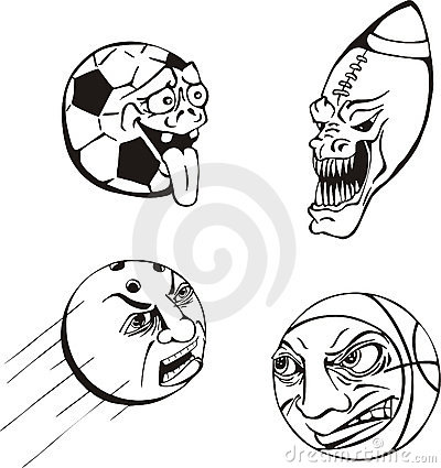 Emotiona ball cartoons