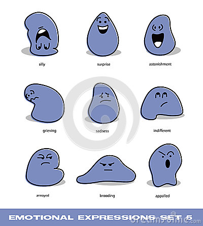 Emotional expressions set 5