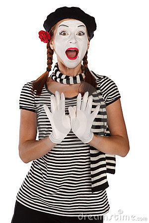 Free Emotional Mime Portrait Stock Photography - 11594242