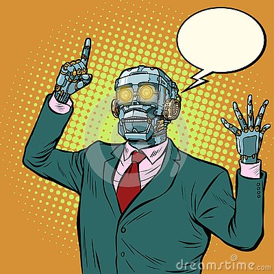 Free Emotional Speaker Robot, Dictatorship Of Gadgets Royalty Free Stock Photos - 131050878