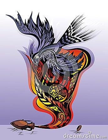Emotional state - the feeling of freedom. Bird ta