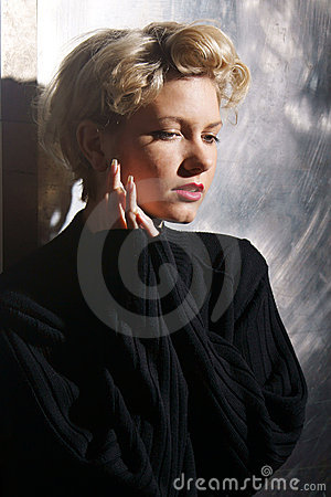 Emotional woman portrait