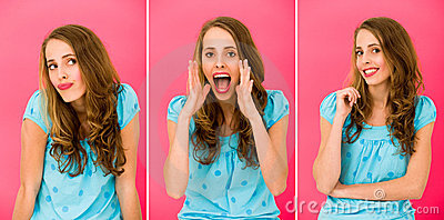 Emotions of a beautiful girl