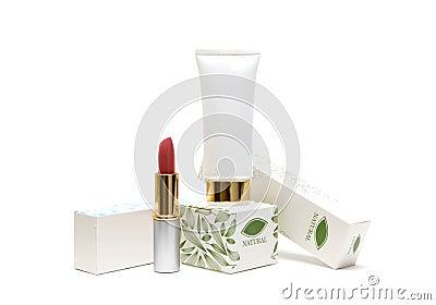 Empacotamento dos cosméticos