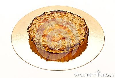 Empanada con las almendras y la pera