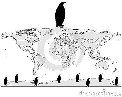 Emperor penguin range