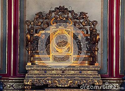 Emperors Throne Forbidden City Beijing China