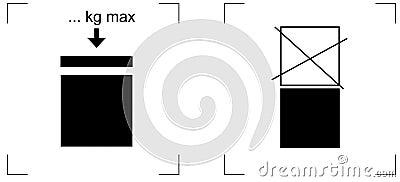 Empilar el pictograma del conjunto de la carga