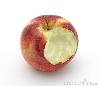 Empire apple that has been bitten