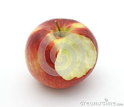 Empire apple that has been bitten