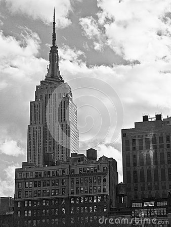 Empire State Black and White Editorial Stock Photo