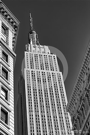 Empire State Building B&W Editorial Photography