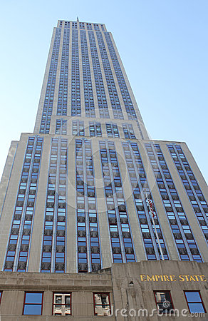 Empire State Building Front Editorial Stock Photo