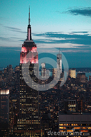 Empire State Building at night Editorial Image