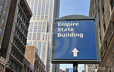 Empire State Building sign Editorial Photography