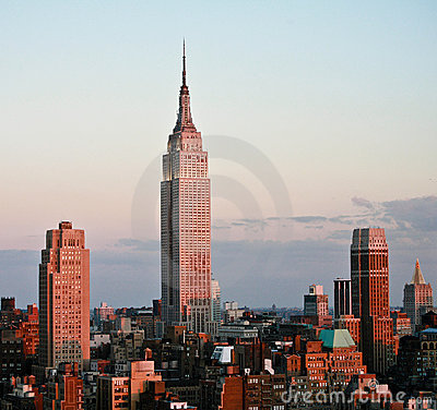 Empire State Building Before Sunset Editorial Image