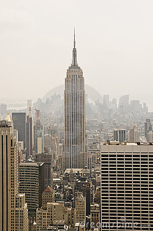 Empire State Building from the Top of the Rock Editorial Image