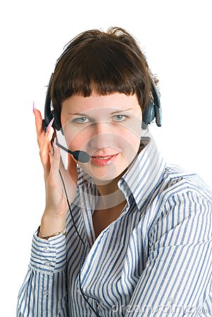 The employee of the call center