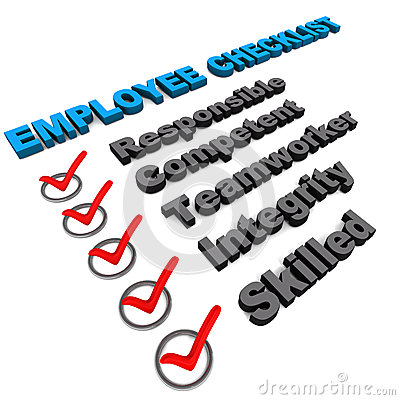 Employee check list