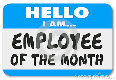 Employee Of The Month Name Tag Sticker Best Top Worker Stock ...