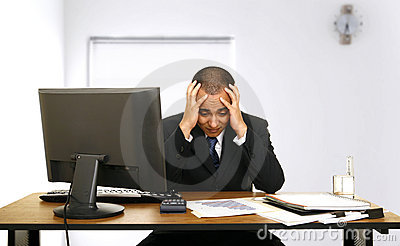 Employee Stress In His Office Stock Photo