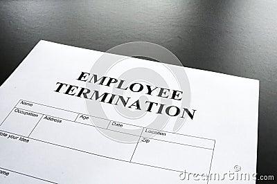 Employee termination