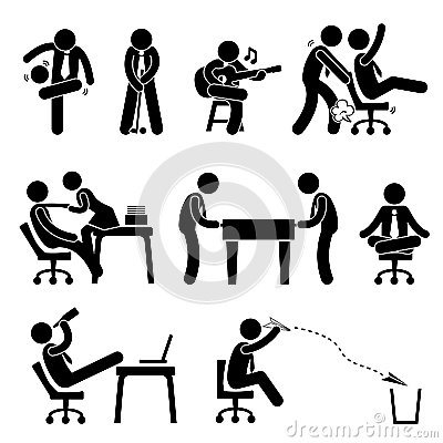 Employee Worker Office Fun Pictogram