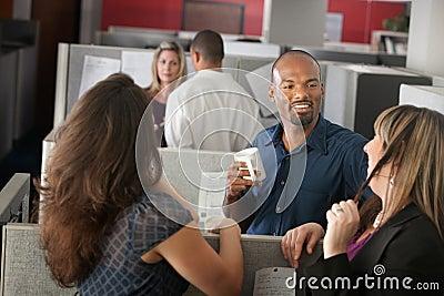 Employees Enjoying Break