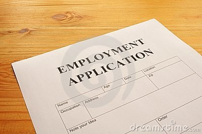 Employment application