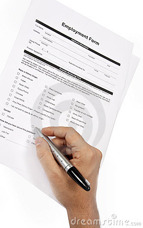 Free Employment Form Stock Photography - 15880032