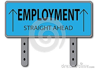 Employment Sign Concept