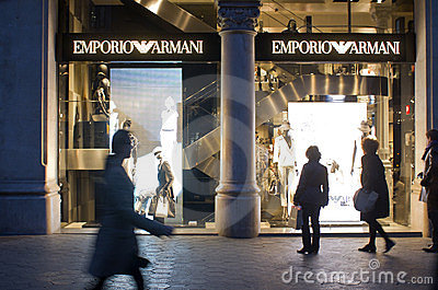 Emporio Armani store Editorial Stock Photo