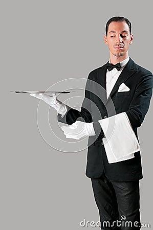 Empregado de mesa altivo