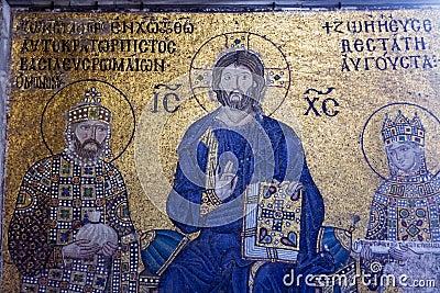 Empress Zoe mosaics in Hagia Sophia