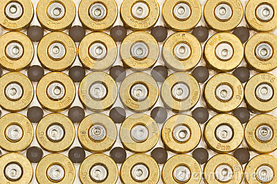 Empty 9mm bullet casings