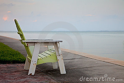 Empty Adirondack Chair