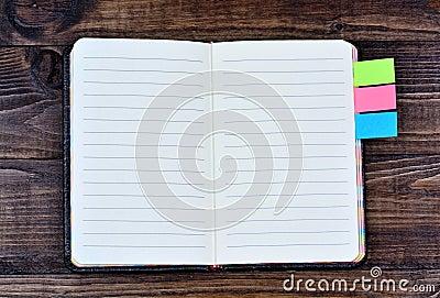 Empty agenda on table Stock Photo