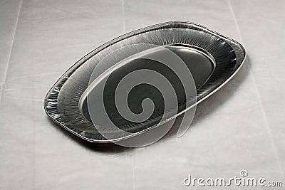 Empty aluminium plate