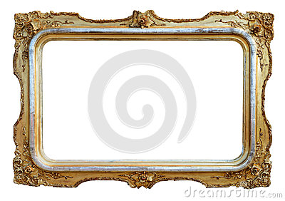 Empty antique frame